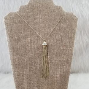 LOFT Tassle Long Chain Necklace